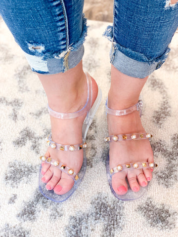 Cierra Jelly Sandals - Clear