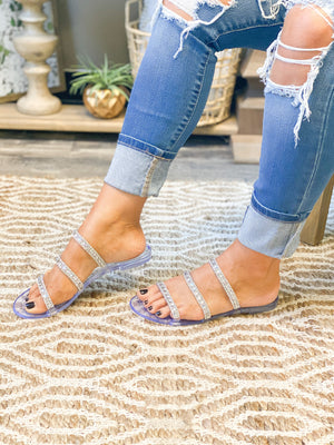 Valerie Bling Jelly Sandals - Clear SIZES 5&6