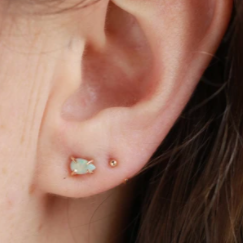 Marquis Opal Studs