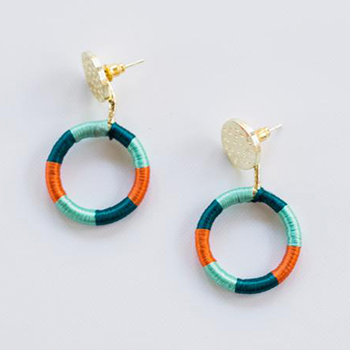 Vibrant Threads Earring