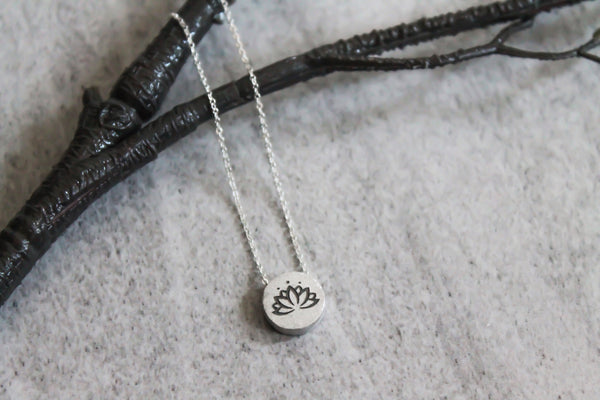 Lotus Flower Mantra Necklace