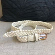 Load image into Gallery viewer, Lotus Plaited Belt White