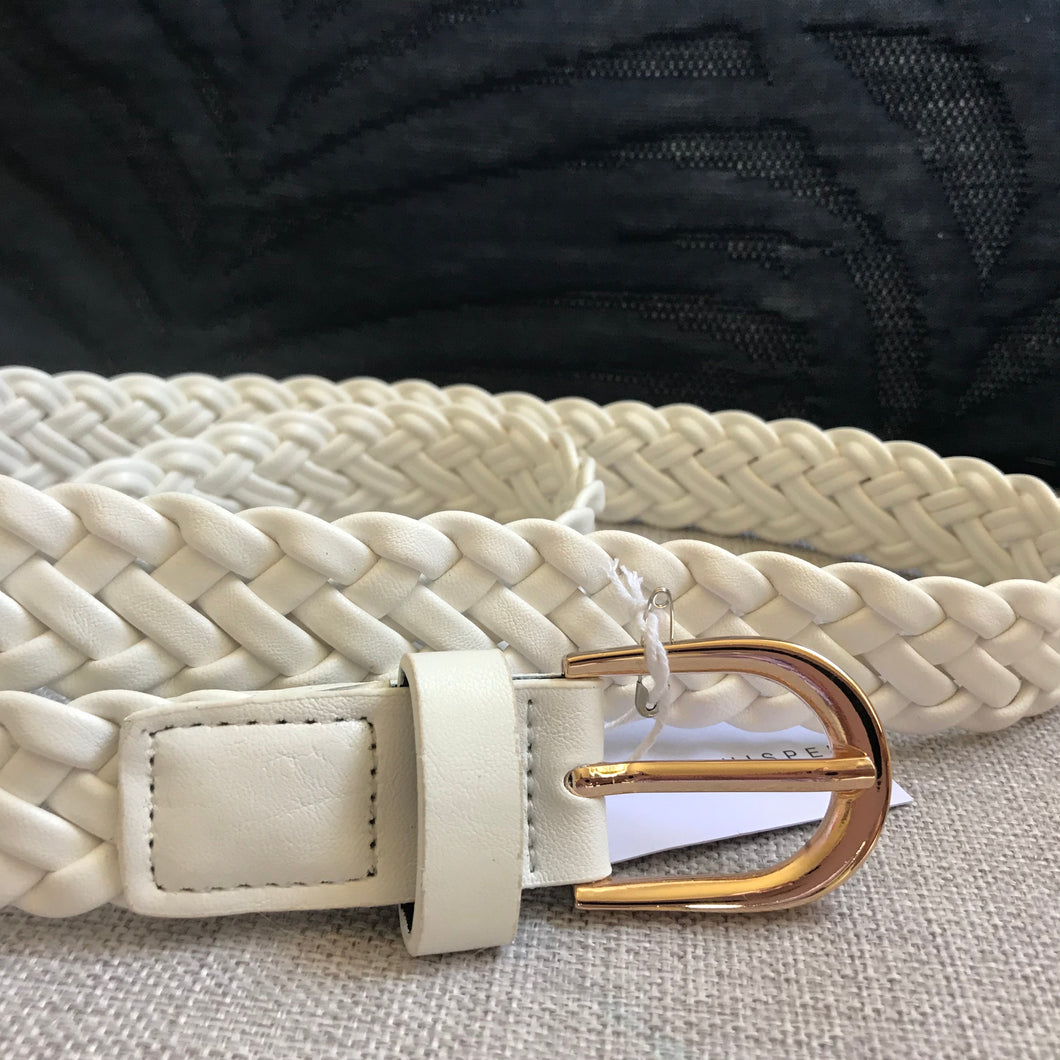 Lotus Plaited Belt White