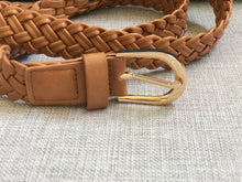 Load image into Gallery viewer, Lotus Plaited Belt Tan