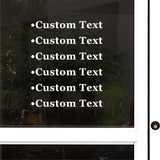 Custom Decal - Business Name/Phone Number/email or any custom text.