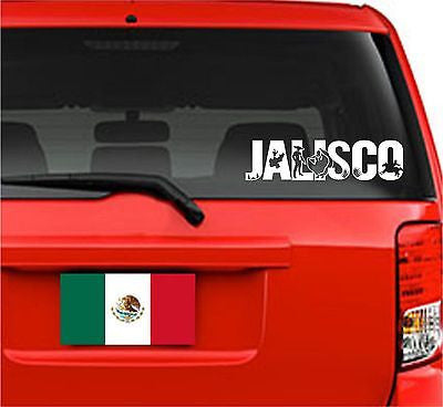 Mexico: Emblema Jalisco. Car Decal - Sticker.