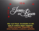 Jesus is Risen. Car Decal - Sticker