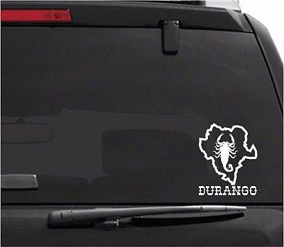 Decals - Stickers. Mexico: Alacran. Mapa Durango.