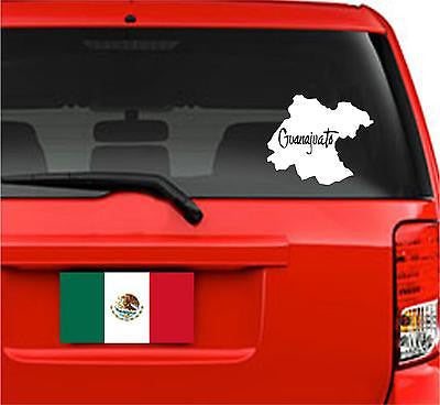 Mapa Guanajuato, México.  Map. Car Decal - Sticker.