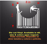Decals: Skateboarding Barcode Scan Sticker