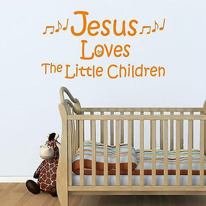 Christian Home Decor. Wall Decal. Jesus Loves The Little Children