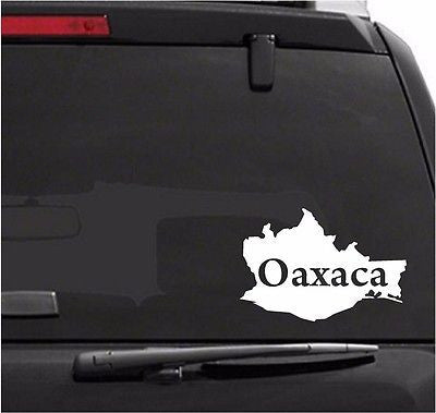 Mapa Oaxaca, Mexico.  Map. Car Decal - Sticker.