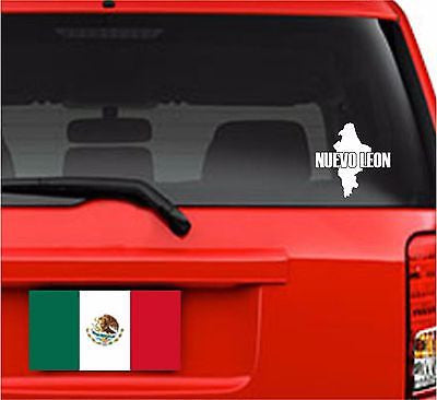 Mapa Nuevo León, Mexico. Map. Car Decal - Sticker.
