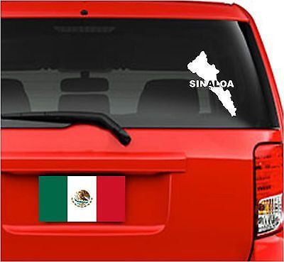 Mexico: Mapa Sinaloa. Car Decal - Sticker.