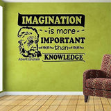 Quotes Decals. Wall Decal. Albert Einstein: Imagination is more important than..