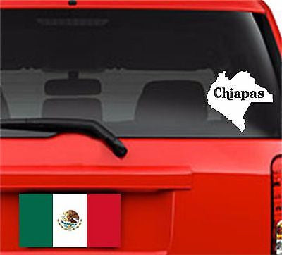 Mapa Chiapas, México.  Map. Car Decal - Sticker.