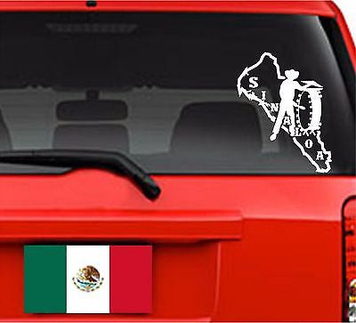 Decals - Stickers. Mexico: Mapa Sinaloa. La Tambora.