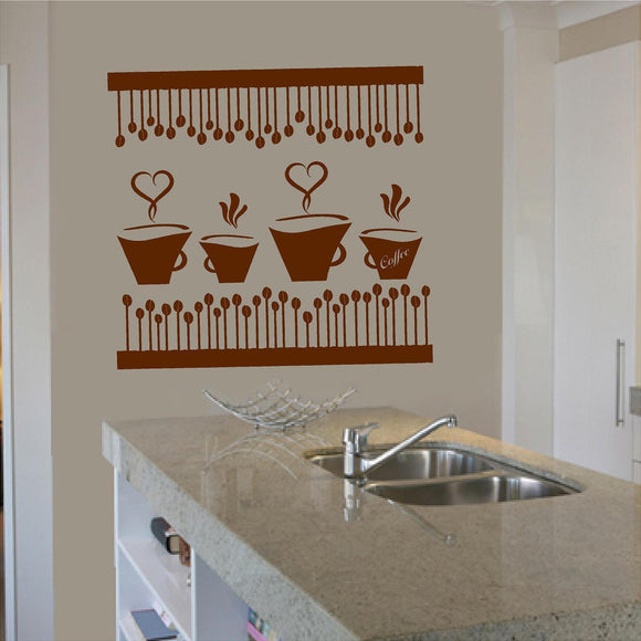 Wall Decal. Home Kitchen Decor. Decorate your home. Coffee. Cafe.