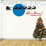 Christmas Decorations. Wall Decal. Santa & Sleigh Christmas Decals.