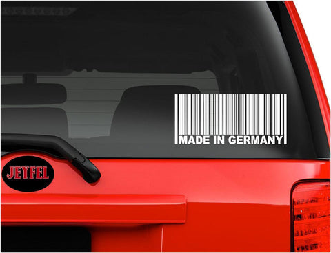 Germany: MADE IN GERMANY Barcode. Decal - Sticker