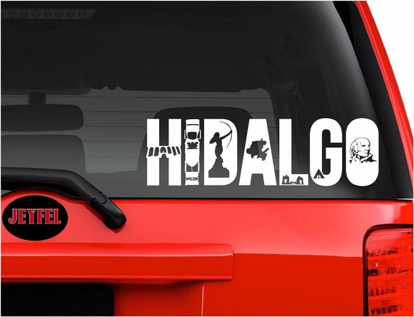 Decals - Stickers. Mexico: Emblema Hidalgo.