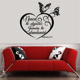 Spanish Wall Decals. Inspirational Wall Decal. Christian Home Decor. Biblia. Hebreos 13:5