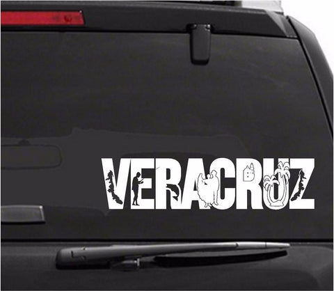 Mexico:  Emblema de Veracruz. Mapa. Car Decal - Sticker.