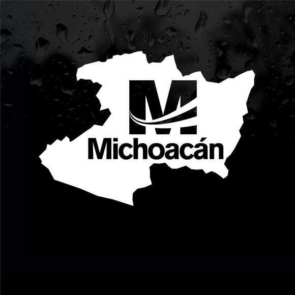 Decals - Stickers. Mexico: Mapa Michoacan. Logo.