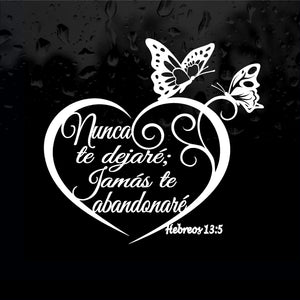 Decal - Religious - Hebreos 13:5 Nunca Te Dejare. Sticker