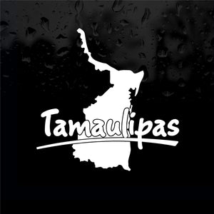 Decals - Stickers. Mexico: Mapa Tamaulipas. Map.