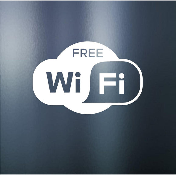 Decals - Stickers. Business. Free Wi-Fi Sign.