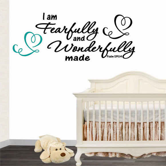 Christian Home Decor. Wonderfully Made: Psalms 139:14