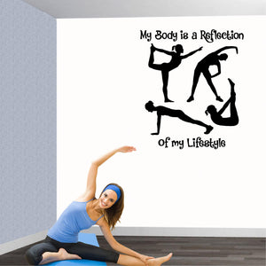 Fitness Wall Decals. Gym. Exercise: My Body is a reflection of my Lifestyle