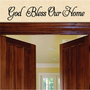 Christian Home Decor. God Bless Our Home.  Wall Decal.