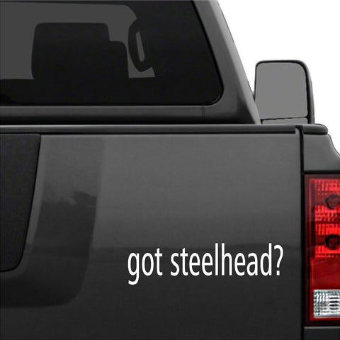 Got Steelhead?  Car Decal