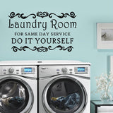 Laundry Room Decor.  For Same Day Service. Do it Yourself.