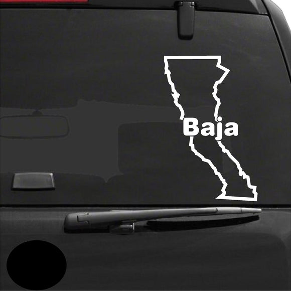 Decals - Stickers. Mexico: Baja Califonia Map.