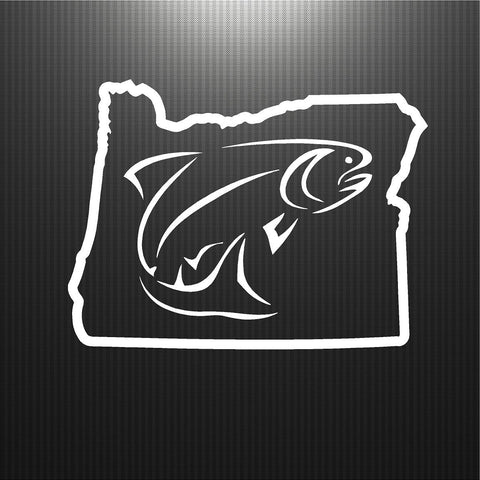 Oregon Map.  Fishing.
