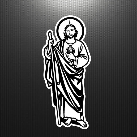 Decal - Religious - Saint Jude. San Judas Tadeo.  Sticker