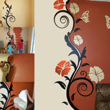 Wall Decor. Floral Vine with butterflies.  Wall Decals.