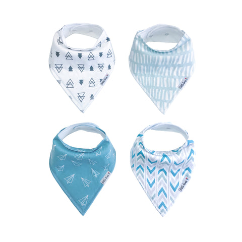 Organic Bandana Bibs - Happy Waves