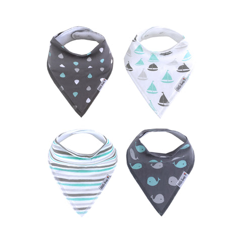 Organic Bandana Bibs - Happy Waves - Little Kims