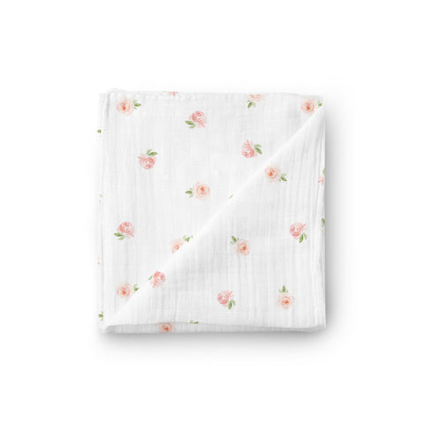 Muslin Swaddle Blanket - Rose Garden - Little Kims