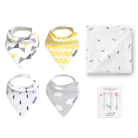 Bibs Swaddle Hankie Set - Sweet Dreams & Birds of a Feather - Little Kims