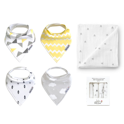 Bibs Swaddle Hankie Set - Sweet Dreams, Pine Grove & Adventure Bears - Little Kims