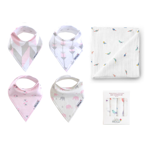 Bibs Swaddle Hankie Set - Urban Safari & Birds of a Feather - Little Kims
