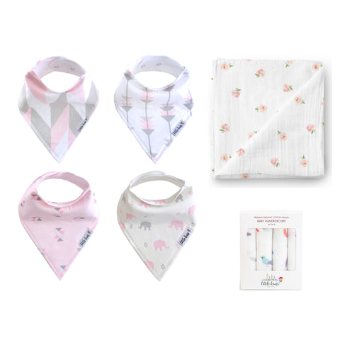 Bibs Swaddle Hankie Set - Urban Safari, Rose Garden, Birds of a Feather - Little Kims