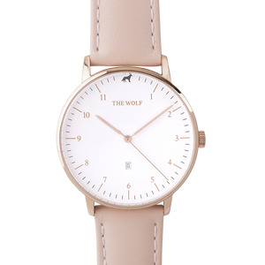 Pastel Pink Leather Watch Band
