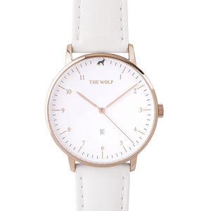 White Leather Watch Band