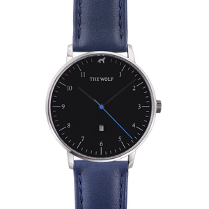 navy leather watch band